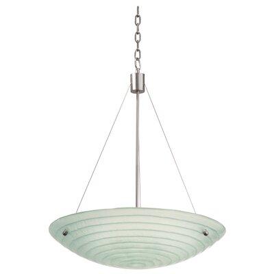 Aqueous 3-Light Inverted Pendant Bulb Type: Incandescent, Size: 15.38