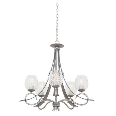 Seabrook 5-Light Shaded Chandelier Finish: Moon Silver
