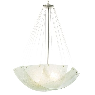Cirrus 5-Light Shaded Chandelier Finish: Satin Nickel, Bulb Type: Incandescent