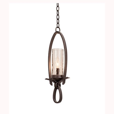 Grayson 1-Light Mini Pendant Shade Type: Black Iridescent Side