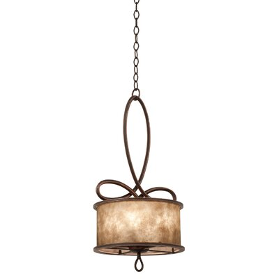 Whitfield 5-Light Drum Pendant Finish: Antique Copper, Shade: Shade, Stained Champagne Mica
