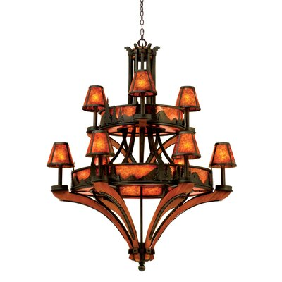 Aspen 9-Light Shaded Chandelier