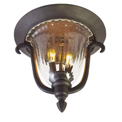 Santa Barbara 2-Light Flush Mount Finish: Textured Matte Black