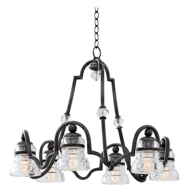 Hemmingray 6-Light Shaded Chandelier Finish: Antique Copper