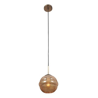 Celine 1-Light Globe Pendant Shade Size: Small, Finish: Chemical Bronze
