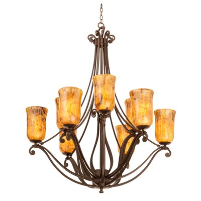 Somerset 9-Light Shaded Chandelier
