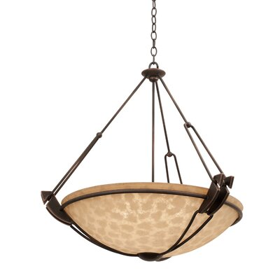 Grande 6-Light Bowl Pendant Finish: Antique Copper, Shade Type: Iridescent Shell