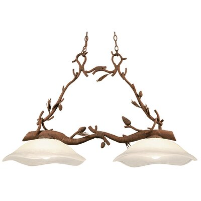 Ponderosa 2-Light Kitchen Island Pendant