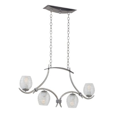Seabrook 4-Light Kitchen Island Pendant Finish: Moon Silver