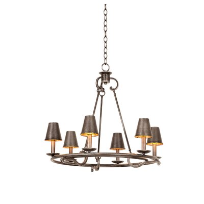 Fairford 6-Light Shaded Chandelier