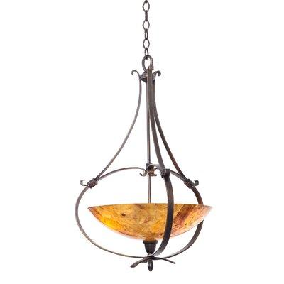 Mateo 3-Light Bowl Pendant Finish: Hierloom Bronze, Shade Color: Penshell