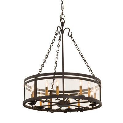 Morris 12-Light Drum Chandelier