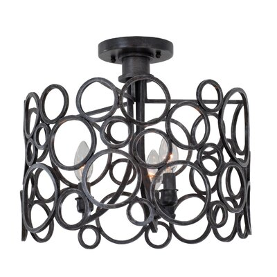 Ashbourne 3-Light Semi Flush Mount Finish: Vintage Iron