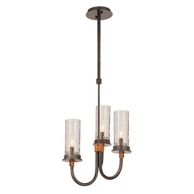 Bentham 3-Light Candle-Style Chandelier Shade Type: Penshell Side