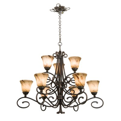 Amelie 9-Light Shaded Chandelier
