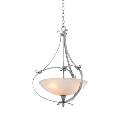 Mateo 3-Light Bowl Pendant Finish: Hierloom Bronze, Shade Color: Matte Opal Glass