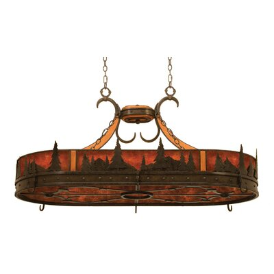 Aspen Hanging Pot Rack with 6 Light