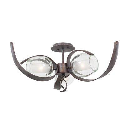 Solana 3-Light Semi Flush Mount