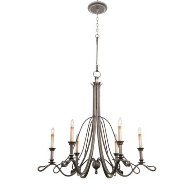 Keller 6-Light Candle-Style Chandelier Finish: Vintage Iron