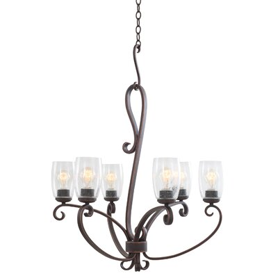 Castaic 6-Light Shaded Chandelier
