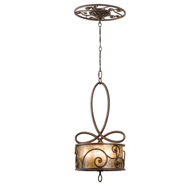 Windsor 5-Light Pendant Finish: Antique Copper, Shade: Tea stained mica shade