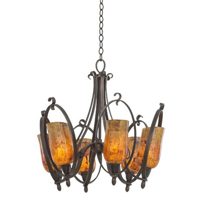 Mateo 6-Light Candle-Style Chandelier Shade Color: Penshell