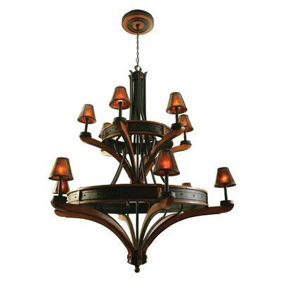 Aspen 12-Light Shaded Chandelier