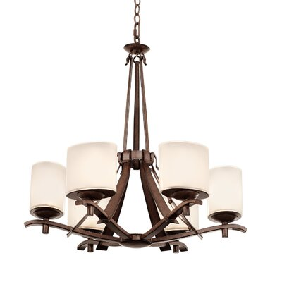 Stapleford 6-Light Shaded Chandelier