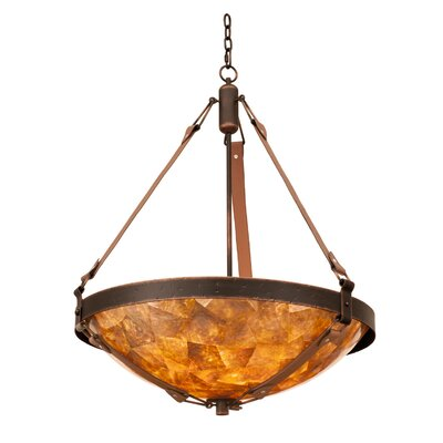 Rodeo Dr. 6-Light Pendant Finish: Black, Shade Type: Victorian Penshell