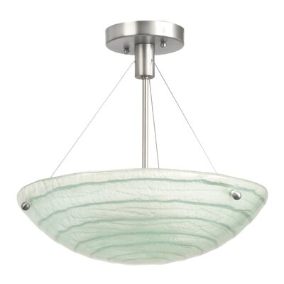 Aqueous 3-Light Semi Flush Mount Bulb Type: Incandescent