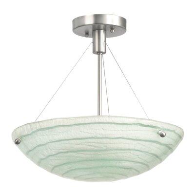 Aqueous 3-Light Semi Flush Mount Bulb Type: CFL