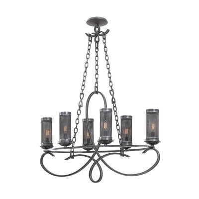 Delancy 6-Light Shaded Chandelier