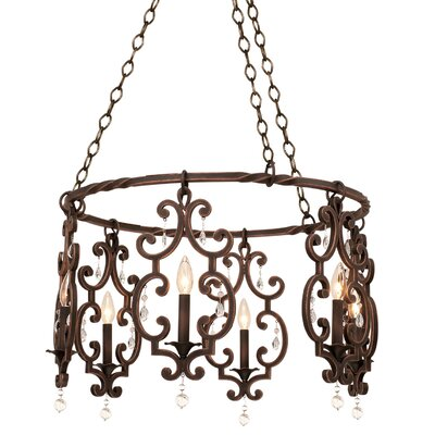 Montgomery 6-Light Candle-Style Chandelier Finish: Vintage Iron