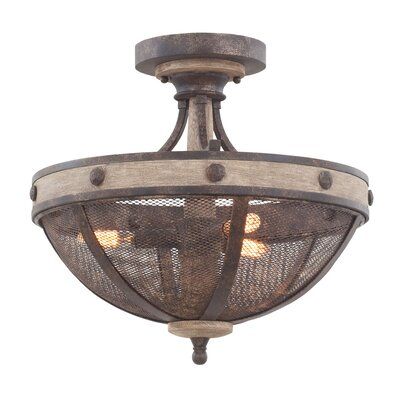 Coronado 3-Light Semi Flush Mount