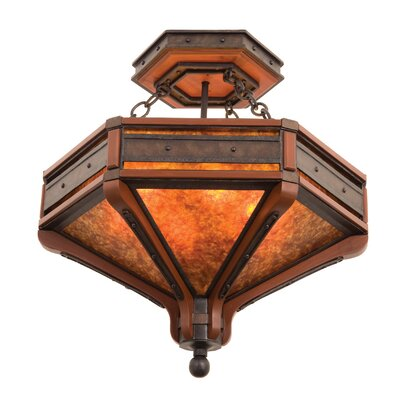 Aspen 6-Light Semi Flush Mount