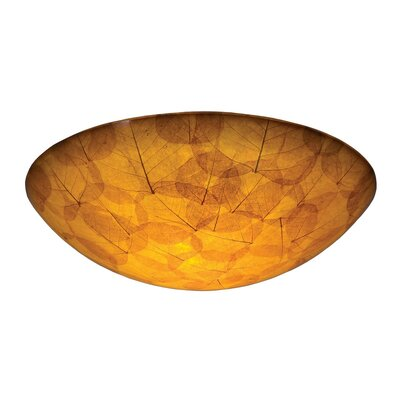 Santa Barbara 3-Light Semi Flush Mount Shade Type: Buddha Leaf