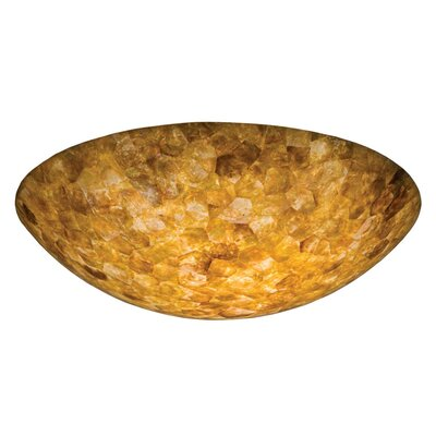 Santa Barbara 3-Light Semi Flush Mount Shade Type: Iridescent Shell