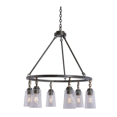 Dillon 6-Light Kitchen Shaded Chandelier
