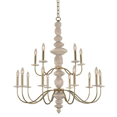 Carrara 2 Tier 15-Light Candle-Style Chandelier