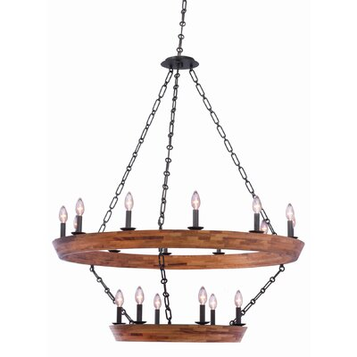 Lansdale 2 Tier 18-Light Candle-Style Chandelier