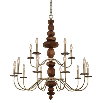 Lassen 2 Tier 15-Light Candle-Style Chandelier