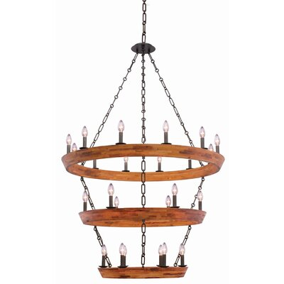 Lansdale 3 Tier 24-Light Candle-Style Chandelier
