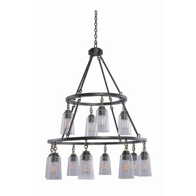 Dillon 12-Light Shaded Chandelier