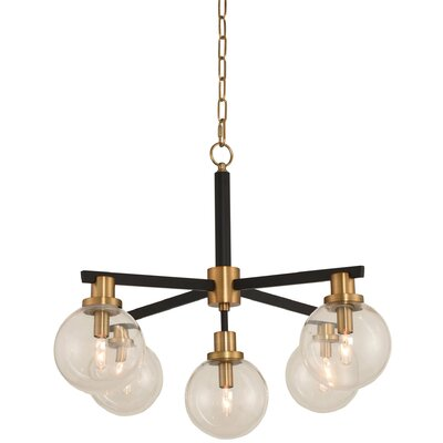 Laurena 5-Light Kitchen Island Pendant Finish: Brushed Pearlized Brass