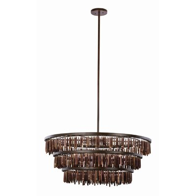 Unie 6-Light Drum Pendant Size: 19 H x 34 W x 34 D