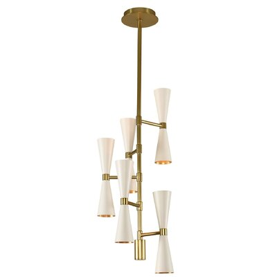 Faith 10-Light Cluster Pendant Finish: White