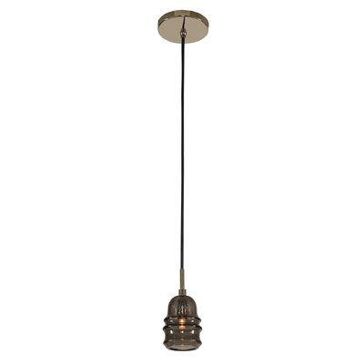 York 1-Light LED Mini Pendant Finish: Brushed Pearlized Brass