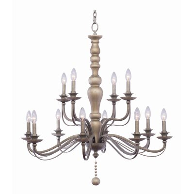 Colony 2 Tier 12-Light Candle-Style Chandelier