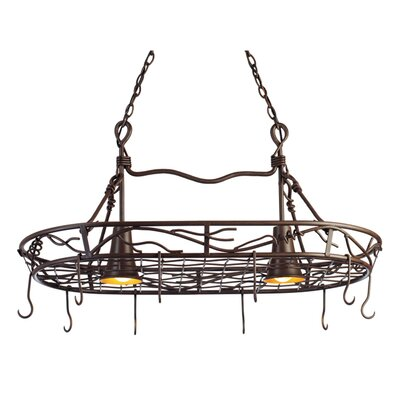 Vine 2-Light Hanging Pot Rack