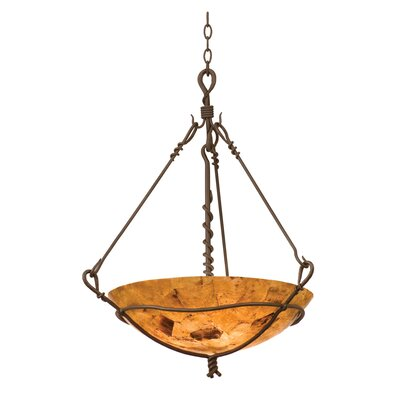 Vine 3-Light Bowl Inverted Pendant